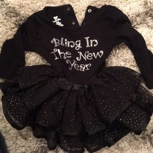 New Year infant and toddler dress